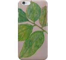 leaves in watercolour iPhone Case/Skin