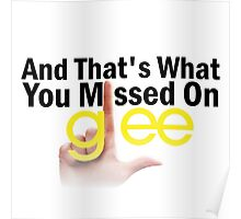 And That's What You Missed On Glee Poster