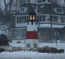 Snowy Afternoon at the Bluff by Gilda Axelrod