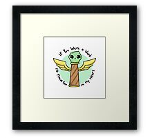 Ward sticker Framed Print