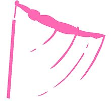 Pink Gymnastic Bars Silhouette by kwg2200