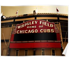 Wrigley Field Classic Poster