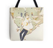 setting up the stars. Tote Bag