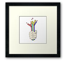 Love Sip Framed Print