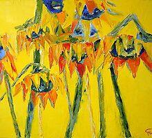 Caribbean Sunflowers by Claudia Hansen