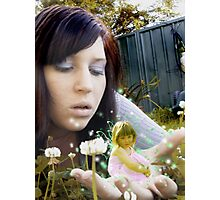 Fairies in the garden Photographic Print