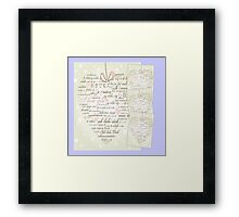 Words of Love Designer Art Powder Blue Framed Print