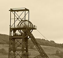 Cefn Coed Colliery Pit head Gear by Nala