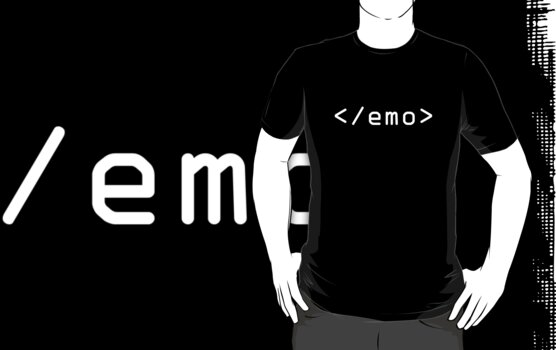 End Emo (White Print) by rudeboyskunk