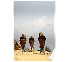 Three women near Everest Poster