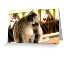 Valentine's monkeys Greeting Card
