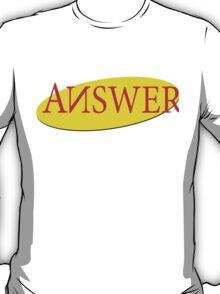 """ANSWER"" Seinfeld Logo T-Shirt"