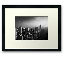 Manhattan Skyline with Empire State Building (Alan Copson ©) Framed Print