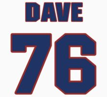 National football player Dave Pear jersey 76 by imsport