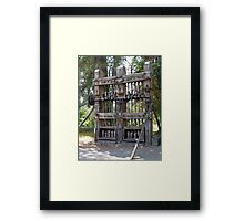 a gold ore stamp Framed Print