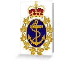 Royal Canadian Navy Badge Greeting Card