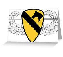 1st Cavalry Division Air Assault Greeting Card