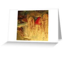 landscape with red stack Greeting Card