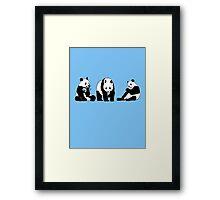 Funny panda party Framed Print