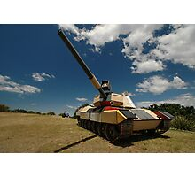 Military Tank @ Sculptures By The Sea 2010 Photographic Print