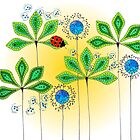 Leafy Green Lady Bug by bajidoo