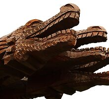 Wooden Dragon heads by franceslewis