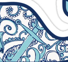 Lilly Pulitzer Whale Shape Up or Ship Out Sticker