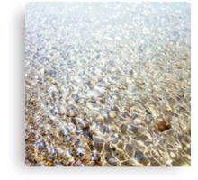 Polzeath Beach ripples Canvas Print