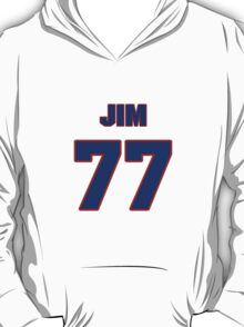 National football player Jim Tyrer jersey 77 T-Shirt