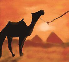 Egyptian Sunset by Dawn B Davies-McIninch