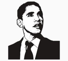 Barack Obama Black and White Suit by ShopBarack