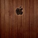Carved Apple iPad Case by Sarah  Mac