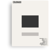 Colorado Minimalist State Map with Stats Canvas Print