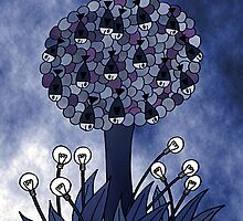 Fish tree and bulb flowers by Harald Gick
