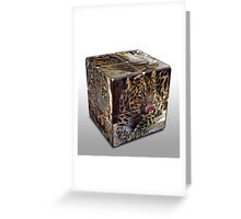 Leopard Cube Greeting Card