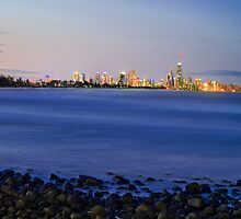 Surfers Paradise at Night by Paul Swan