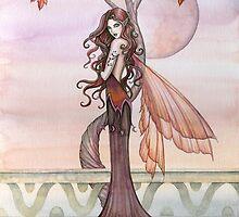 Autumn Fairy Art by Molly Harrison by Molly  Harrison