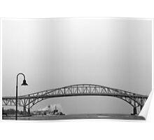 Blue Water Bridge BW 2 Poster