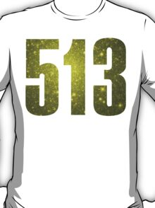 513 Cincinati [Gilded Galaxy] | Phone Area Code Shirts Stickers T-Shirt