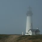 Lighthouse in the fog by Sharoncr