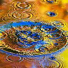 Good Vibrations Water Abstract Art by Christina Rollo