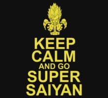 Keep Calm and Go Super Saiyan Tshirt by Awesome Arts