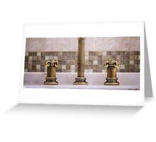 golden faucet  Greeting Card