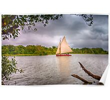 Sailing on the Broads Poster