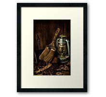 Dustpan & Broom Framed Print