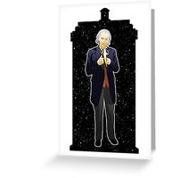 First Doctor and The TARDIS Greeting Card