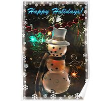 Happy Holidays: Snowman Poster