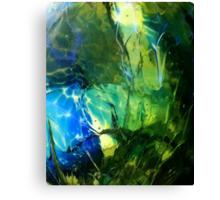 Blue Green Ocean Glass Design Canvas Print