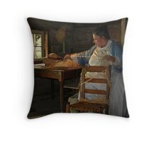 the hat maker Throw Pillow