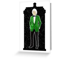 Third Doctor and The TARDIS Greeting Card